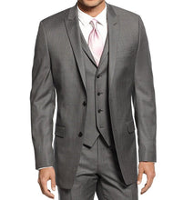 Alfani Red Jacket Mid-Grey Stepweave Slim Fit 46R