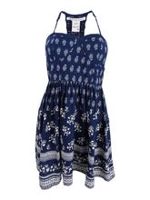 American Rag Juniors' Racerback Fit & Flare Dress Navy Combo S