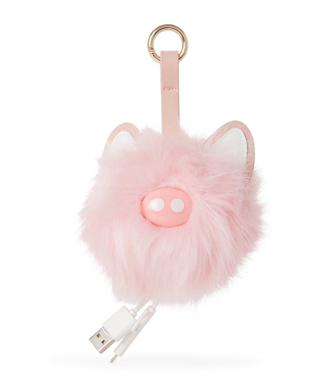 JADE & DEER Charging Power Bank Pom Bag Charm