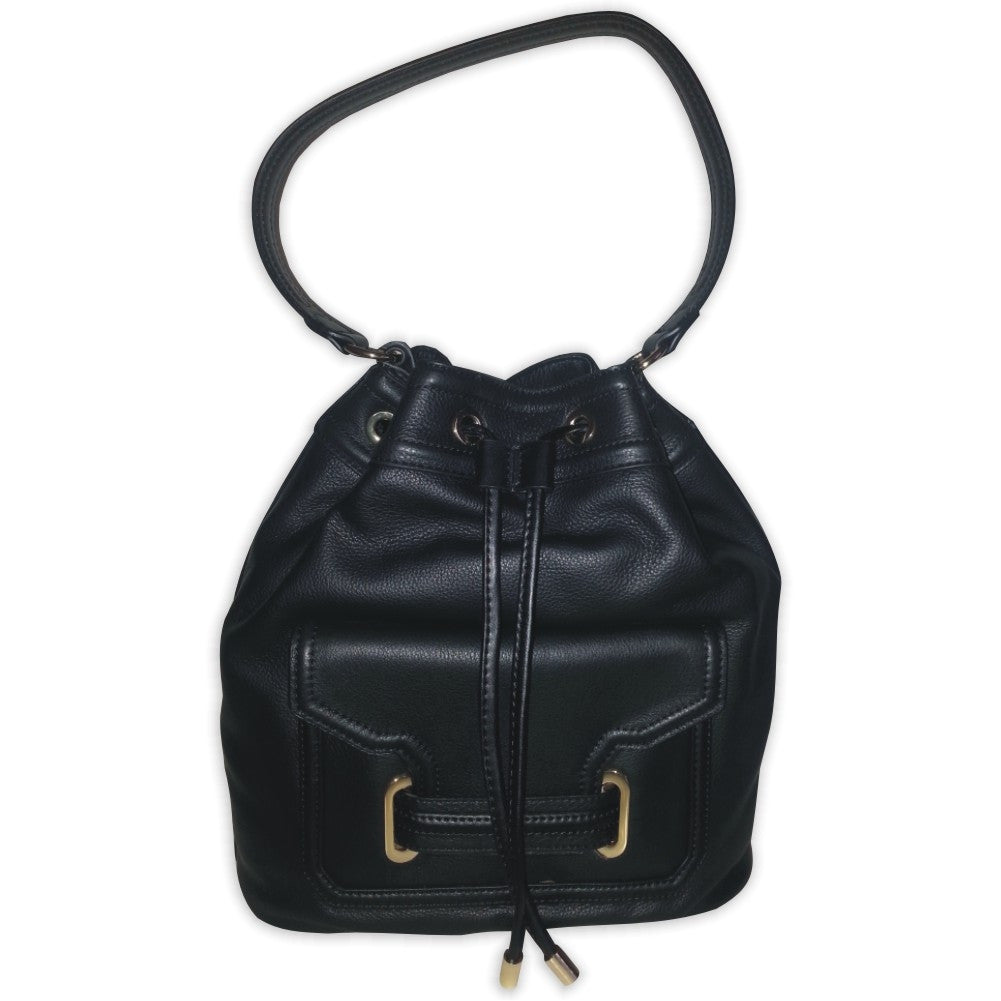 Vince Camuto Jess Drawstring Shoulder Bag Black