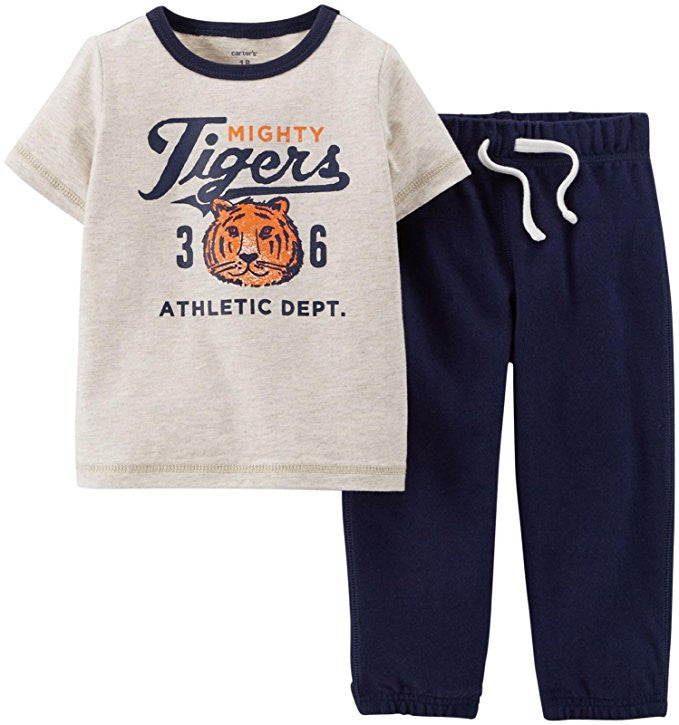 Carter's Baby Boys' 2 Piece Active Set (Baby) - Heather 24 months