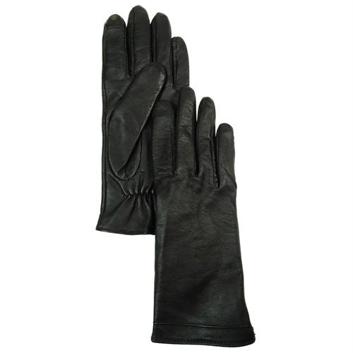 Charter Club Women's Fleece Lined Leather Gloves M