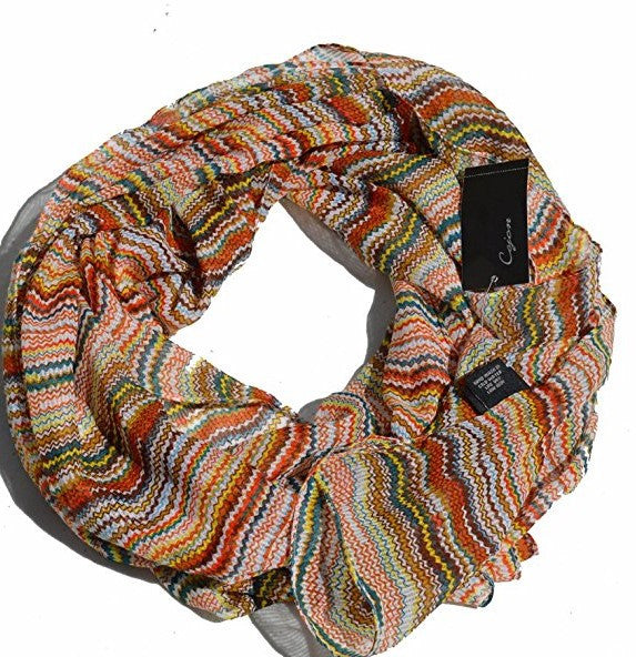 Cejon Abstract Print Scarf Tan