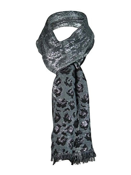 Cejon Women's Animal Shine Scarf Grey