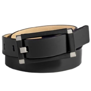 Calvin Klein Wrinkle Patent Wrapped Center Bar Belt