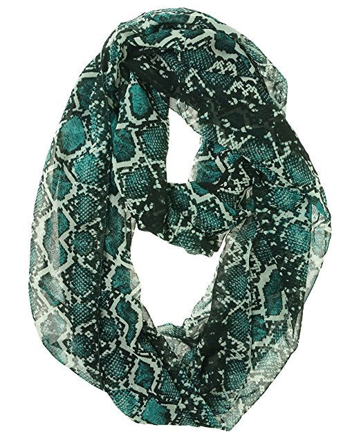 Calvin Klein Women's Watercolor Combo Infinity Scarf Evergreen