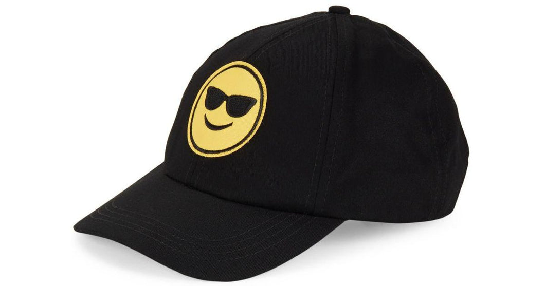Collection XIIX Women's Emoji Baseball Cap Black