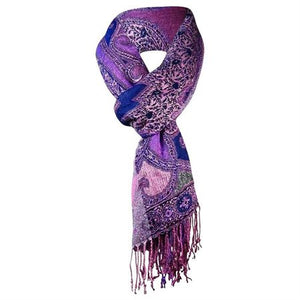 Collection XIIX Women's Paisley Fringe Scarf Black/Multi
