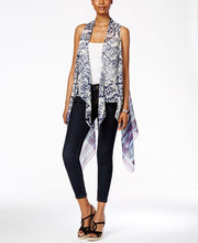 Collection XIIX Ikat Brush Strokes Vest