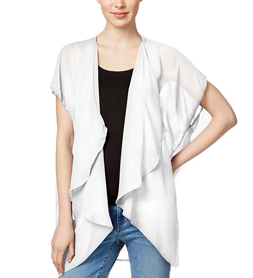 Collection Xiix Solid Cap Sleeve Kimono