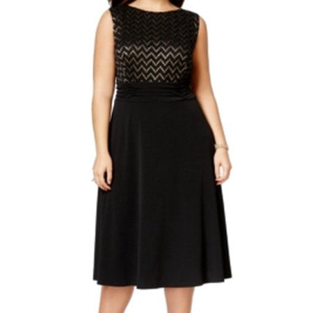 Connected Plus Size Sleeveless Ruched-Waist Dress Size 14W