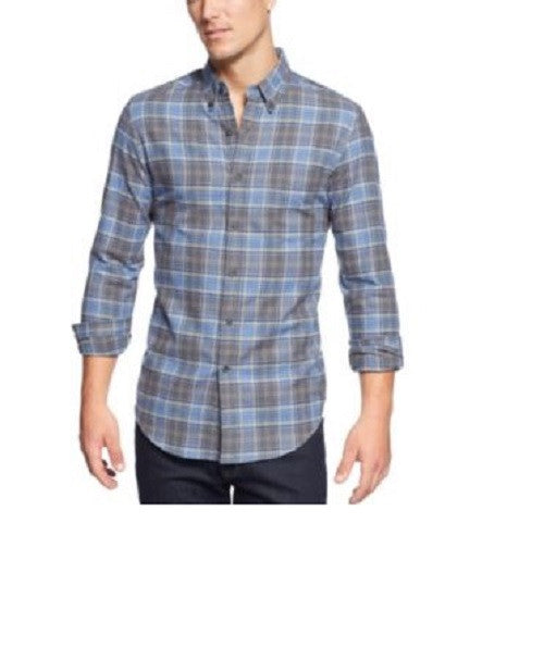 Club Room Mens Button-Front Plaid Flannel Shirt M