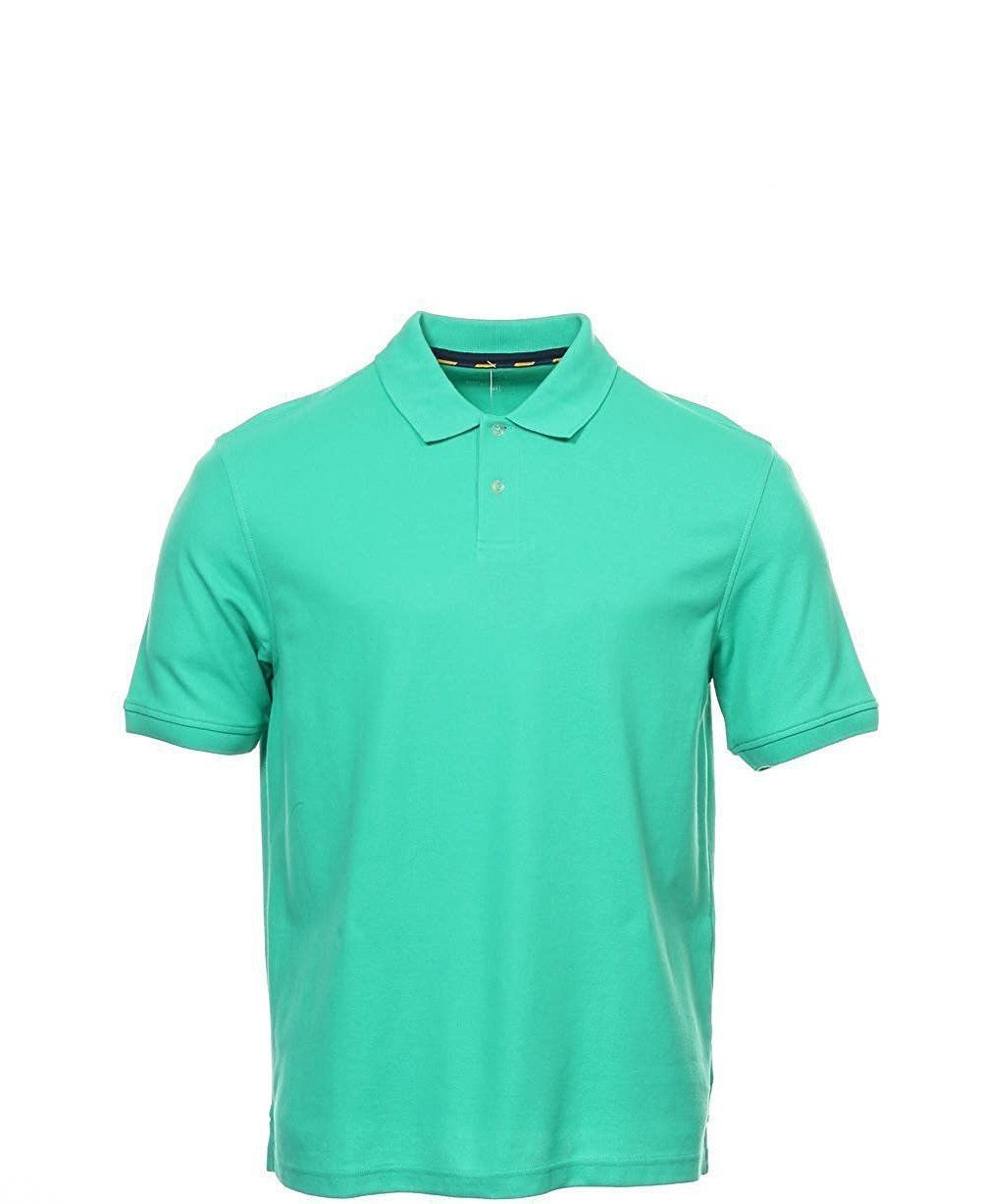Club Room Short Sleeve Solid Estate Performance Polo Menthol Mint Size M