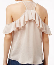 Crave Fame Juniors Ruffled Racerback Top Balmy Clay L