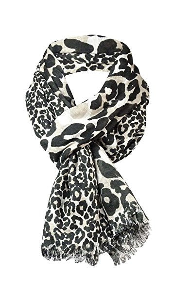 Collection XIIX Women's Scaled Leopard Wrap Silver Lining