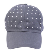 David & Young Women's Studded Baseball Cap One Size Grey