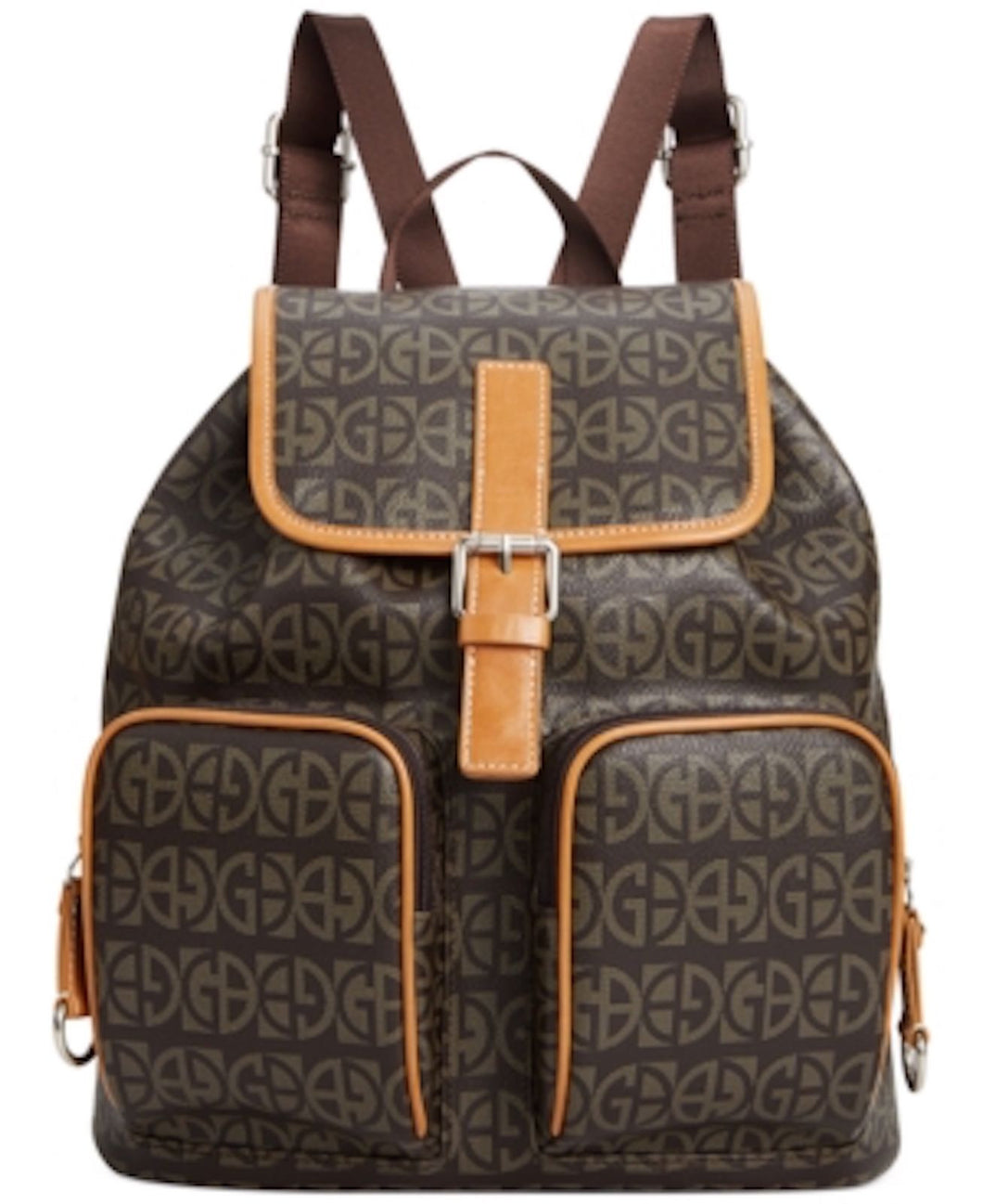 Giani Bernini Block Signature Backpack Brown/British Tan