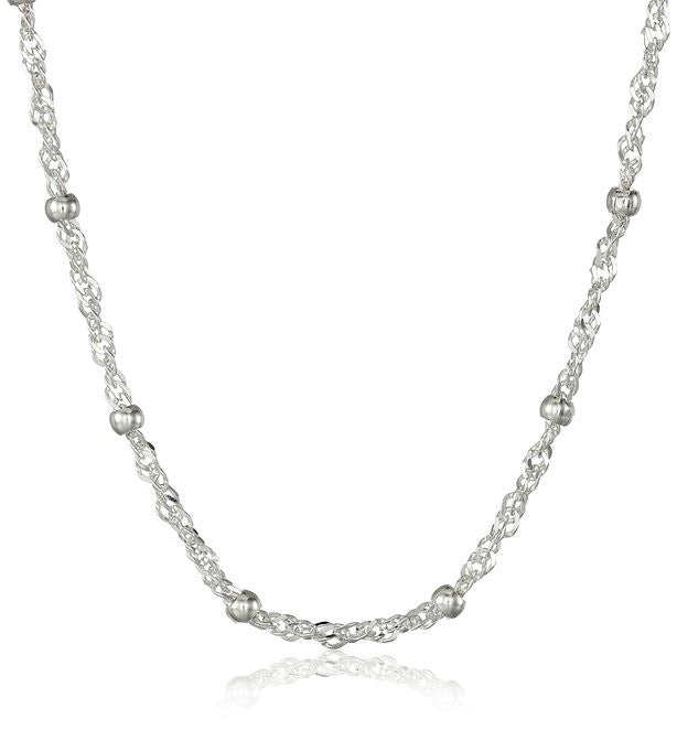 Giani Bernini Sterling Silver Necklace, 24