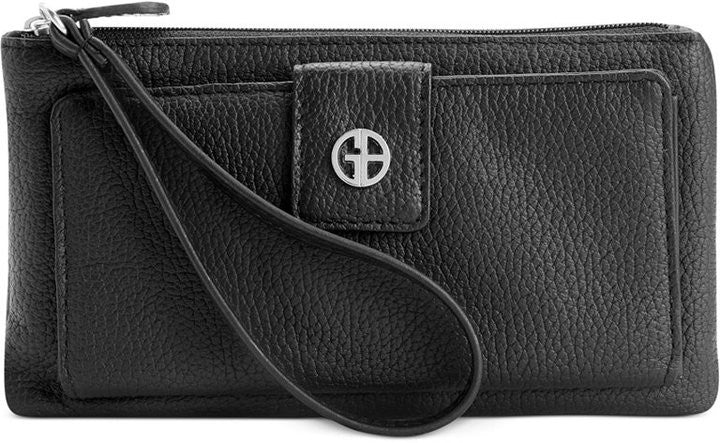 Giani Bernini Softy Grab & Go Leather Wallet & Wristlet Black