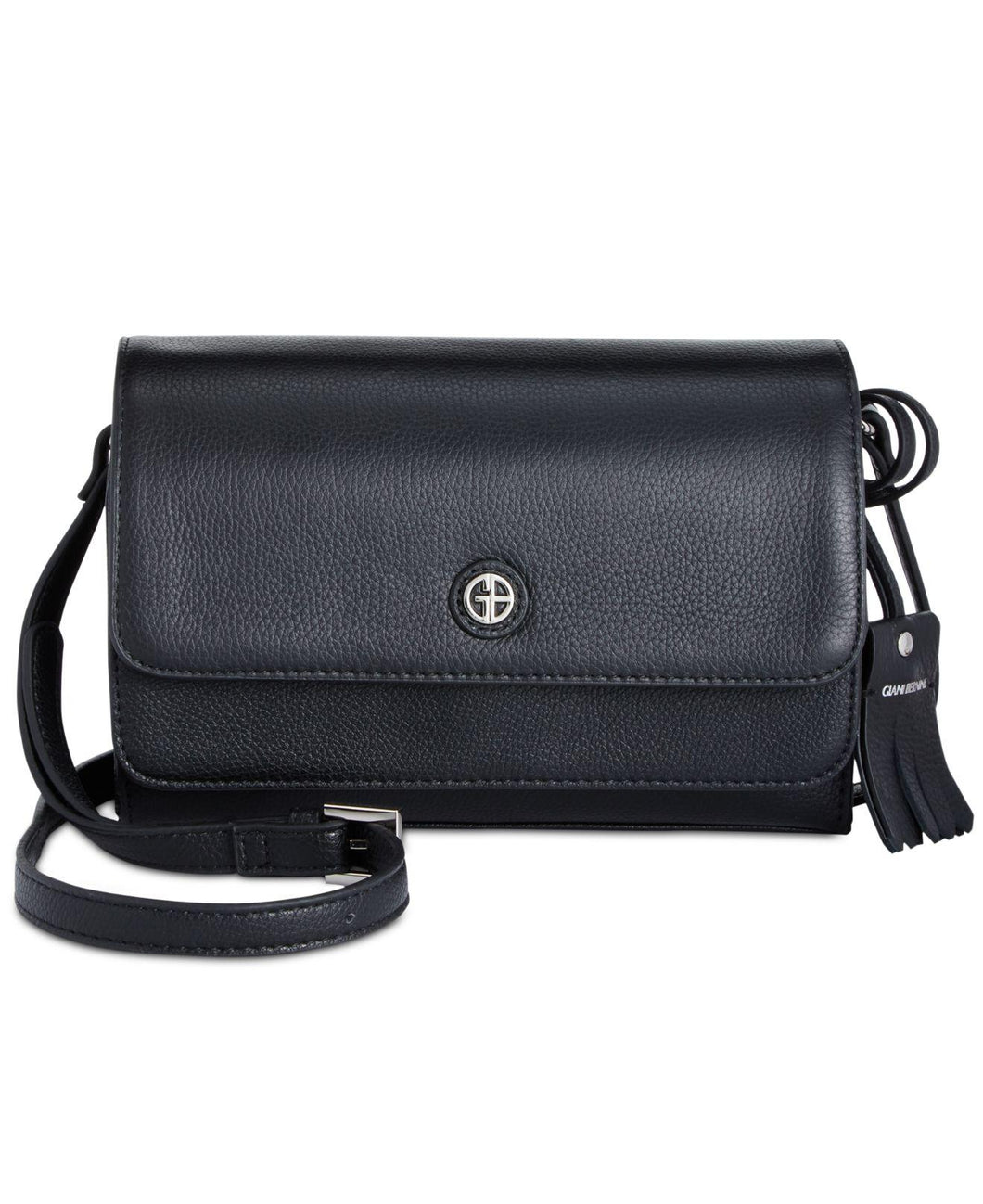 Giani Bernini Kilty Flap Crossbody Black