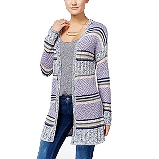 Hippie Rose Juniors Striped Cardigan Moonshadow