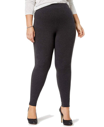 575489c9119825 HUE Women's Cotton Leggings Graphite Heather XL