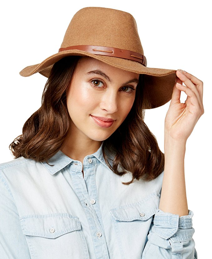 INC International Concepts Women's Belted Band Panama Hat,One Size