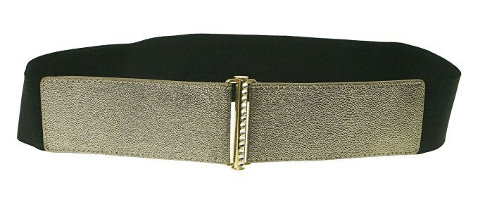 INC International Concepts Metallic Champagne Glitter Tab Belt