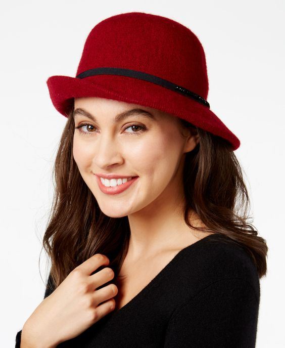 INC International Concepts Jet Stone Cloche Red