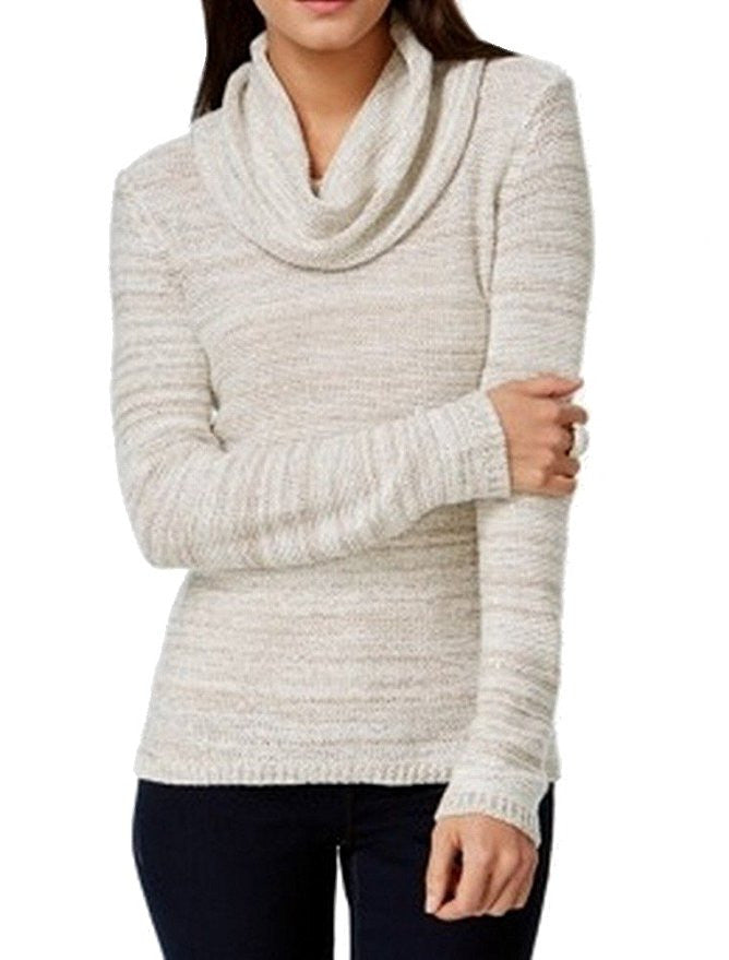 INC Striped Pullover Marled Womens Cowl Neck Sweater XLarge