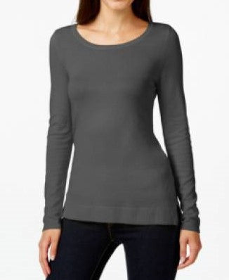 INC International Concepts Scoop-Neck Long-Sleeve Sweater Small