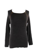INC International Concepts Double-Zip Ribbed Sweater Black  L