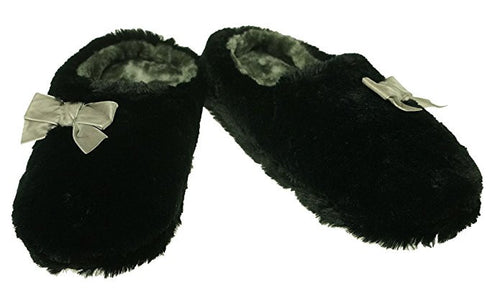 INC International Concepts Plush Bow Clog Slipper S-5/6