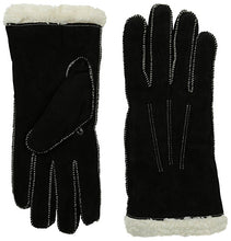 Isotoner Women's Sherpasoft Pigsplit Glove with Moccasin Stitch