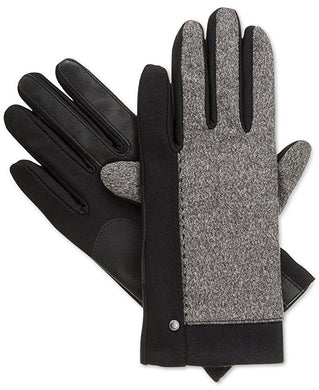 Isotoner Black Stretch Tweed SmarTouch Womens Fleece Lined Gloves