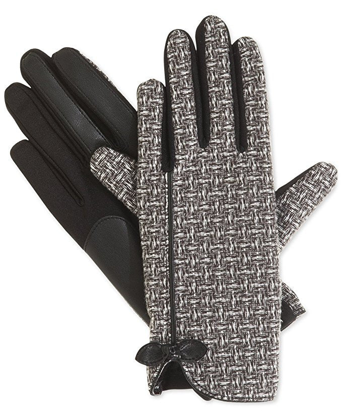Isotoner Signature Stretch Basket Weave Tech Touch Gloves XL