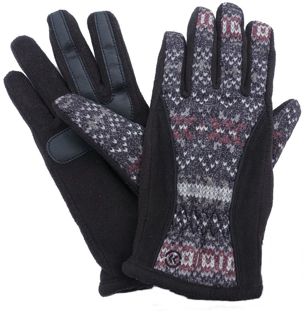 Isotoner Signature Matrix Nylon Thermaflex Core SmarTouch Tech Gloves Multi XL