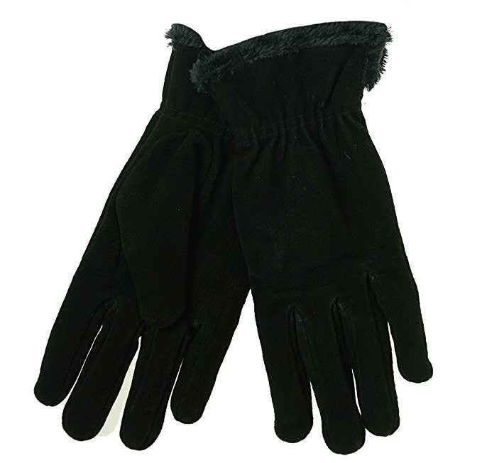 Isotoner Casual Microluxe Lining Gloves Black XL