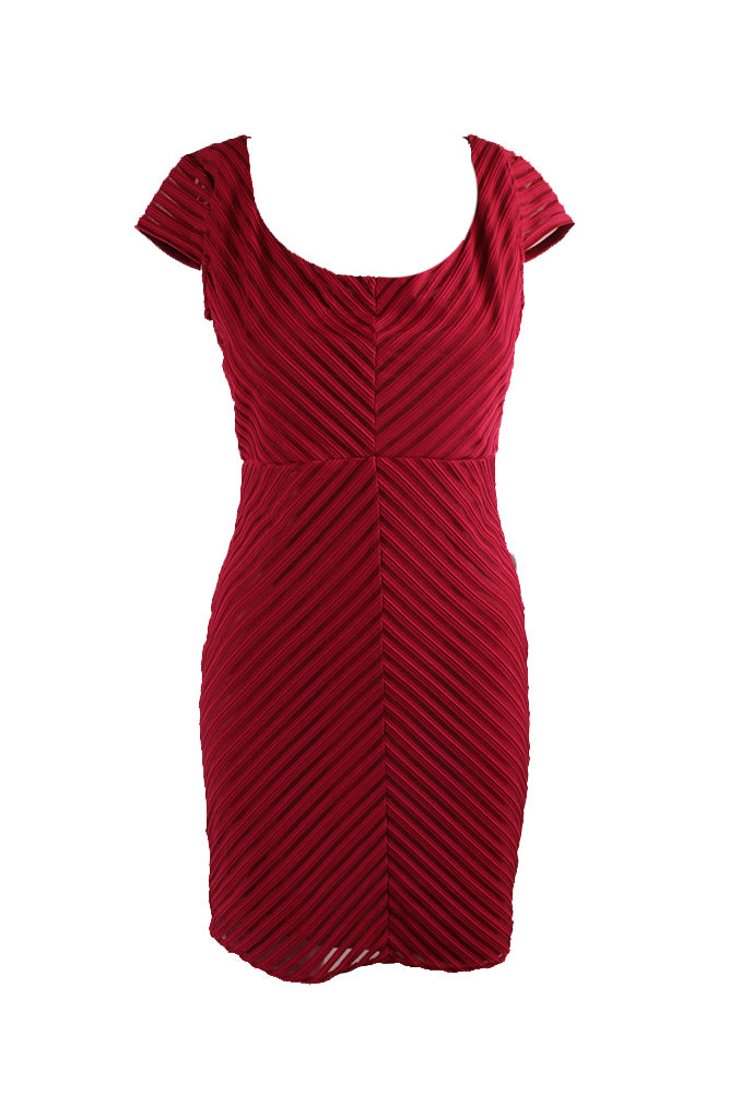 Jump Apparel Mitered Stripe Red Dress Size Large
