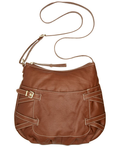 Marc Fisher Casual Double Cross Sling Bag Brown