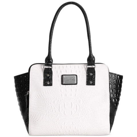 Marc Fisher Black/White Dress For Success Wing Tote
