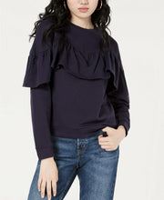 Material Girl Juniors' Ruffled Sweatshirt M