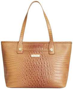 Marc Fisher Day by Day Croco Shopper Camel