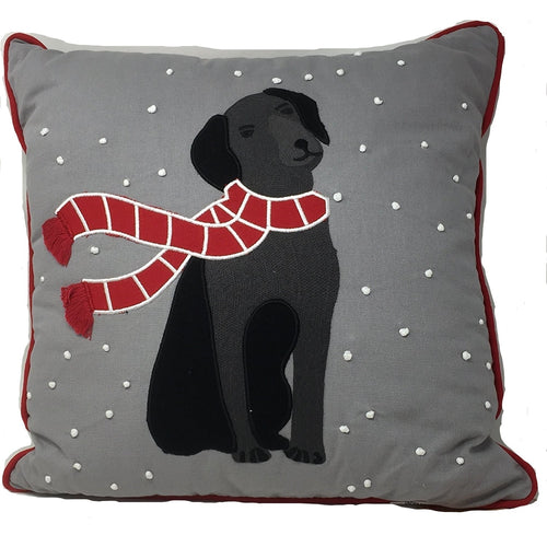 Martha Stewart Collection Animal Decorative Pillow Black Lab