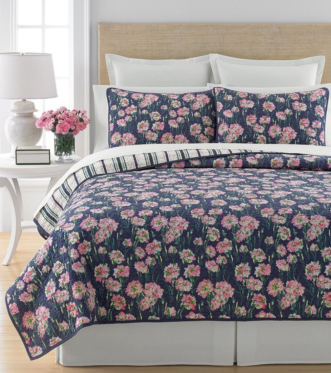 Martha Stewart Collection Carnation Field King Quilt