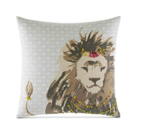 "Martha Stewart Whim Collection Lion Heart 18"" Square Decorative Pillow"