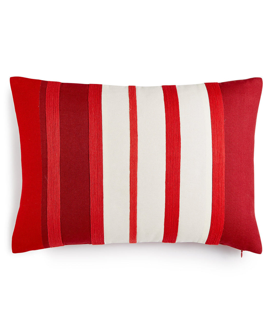 Martha Stewart Collection Rich Red Stripe Decorative Pillow 14x20