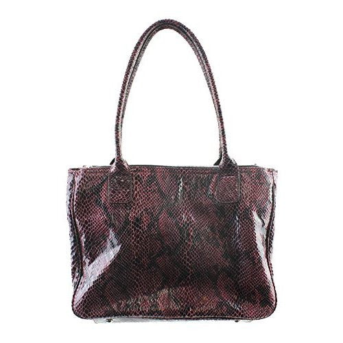 Nine West Double Vision Carryall Satchel Dark Cranberry