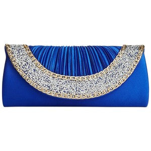 Sasha Glitz Clutch Blue
