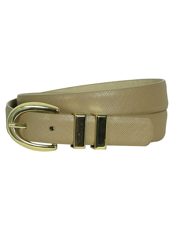 Style & Co. Women's Solid Color Textured Lining Belt Small